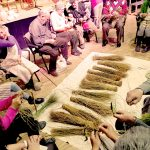 Celebramos el primer corro espartero en Perales de Tajuña